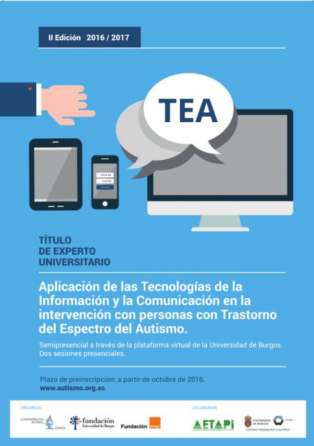 cartel titulo experto universitario TIC TEA